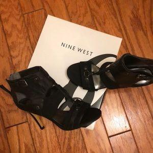 Nine West 8 1/2 m enninger black 3in heels